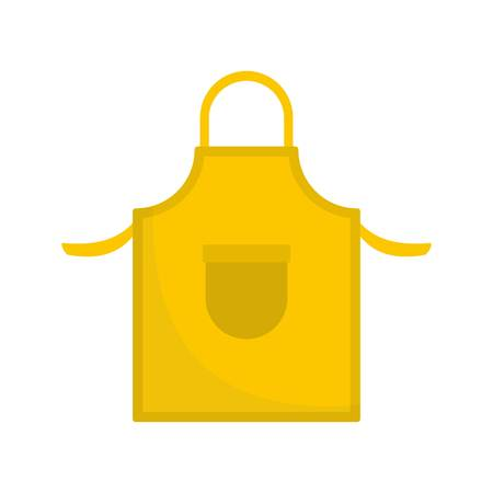 Apron icon. Flat illustration of apron icon for web
