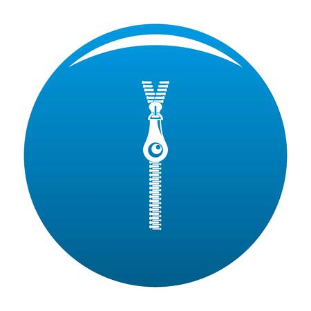 Fashion zip icon. Simple illustration of fashion zip icon for any design blue