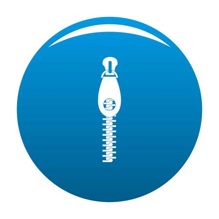 Zip with hole icon. Simple illustration of zip with hole icon for any design blue