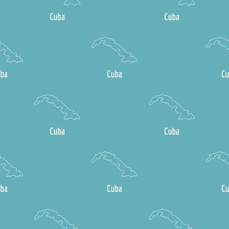 Cuba map thin line. Simple illustration of Cuba map isolated on white background