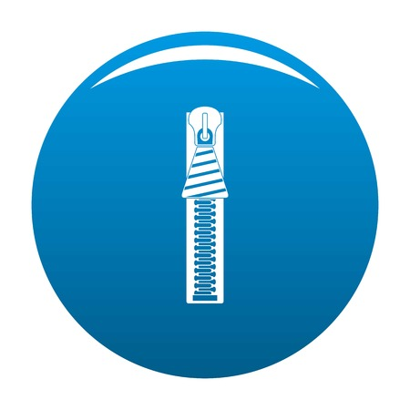 Zipper icon. Simple illustration of zipper icon for any design blue Stock Photo