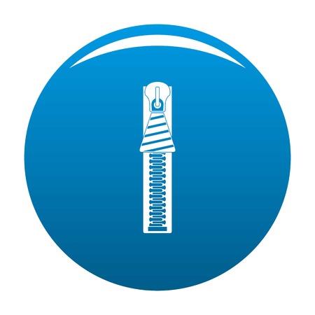 Zipper icon. Simple illustration of zipper icon for any design blue Reklamní fotografie