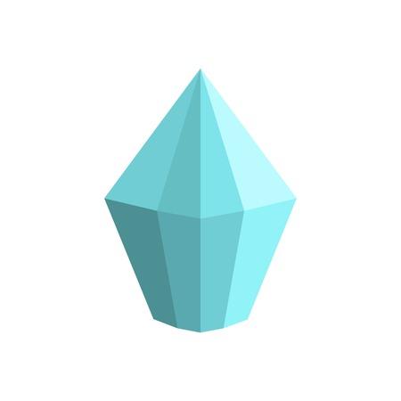 Cone shaped diamond icon. Flat illustration of cone shaped diamond icon for web.
