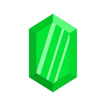Green adamant icon. Flat illustration of green adamant icon for web. Stock Photo