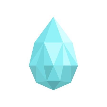 Teardrop shaped diamond icon. Flat illustration of teardrop shaped diamond icon for web. Stock Photo