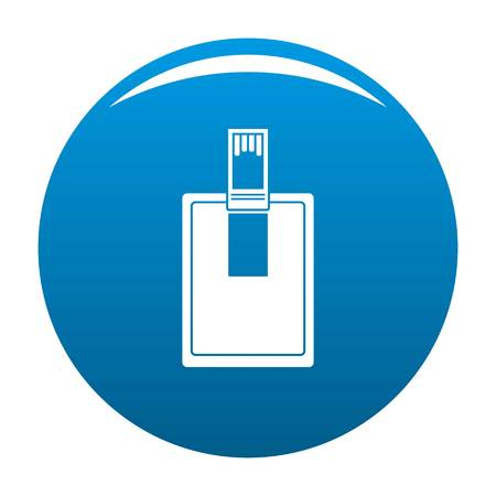 Key connector icon. Simple illustration of key connector icon for any design blue