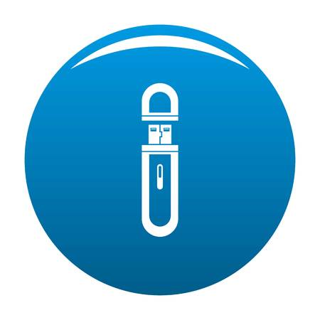 Usb flash drive icon. Simple illustration of usb flash drive icon for any design blue Stock Photo