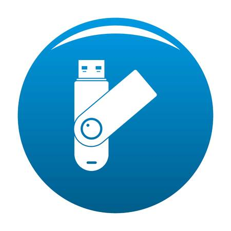 Usb device icon. Simple illustration of usb device icon for any design blue