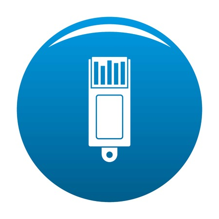 Information usb icon. Simple illustration of information usb icon for any design blue