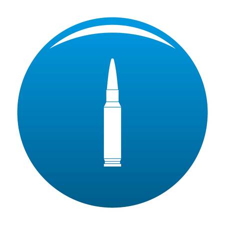 Small bullet icon. Simple illustration of small bullet icon for any design blue Stock Photo
