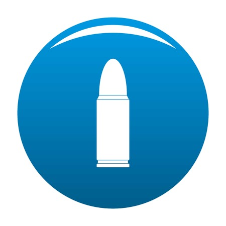 Metal cartridge icon. Simple illustration of metal cartridge icon for any design blue Stock Photo
