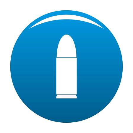 Pistol icon. Simple illustration of pistol icon for any design blue