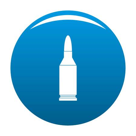 Bullet icon. Simple illustration of bullet icon for any design blue