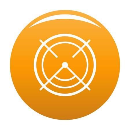 Aim radar icon. Simple illustration of aim radar icon for any design orange
