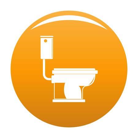 Toilet icon. Simple illustration of toilet icon for any design orange