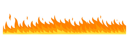 Flame banner horizontal. Flat illustration of flame banner horizontal for web design