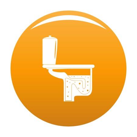 Toilet equipment icon. Simple illustration of toilet equipment icon for any design orange