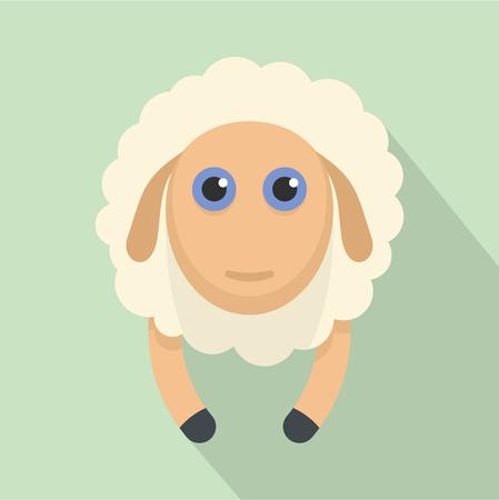 Sheep smile icon. Flat illustration of sheep smile icon for web design