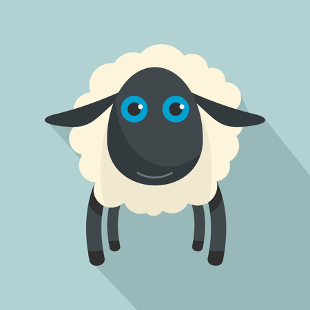 Black sheep icon. Flat illustration of black sheep icon for web design Stock Photo