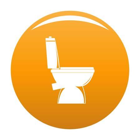 Home toilet icon. Simple illustration of home toilet icon for any design orange Stock Photo