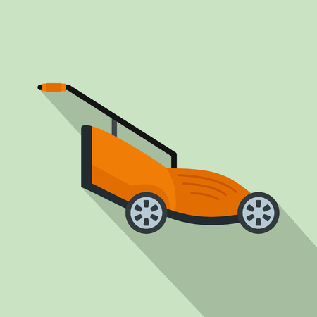 Grass cutter icon. Flat illustration of grass cutter icon for web design
