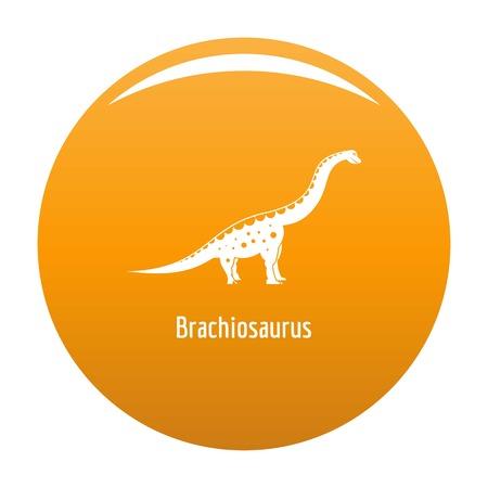 Brachiosaurus icon. Simple illustration of brachiosaurus icon for any design orange Stock Photo