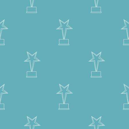 Star award pattern seamless repeating for any web design