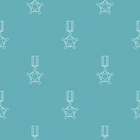 Medal pattern seamless repeating for any web design Stock Photo