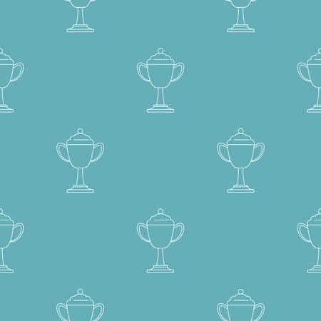 Cup award pattern seamless repeating for any web design