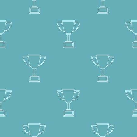Cup award pattern seamless