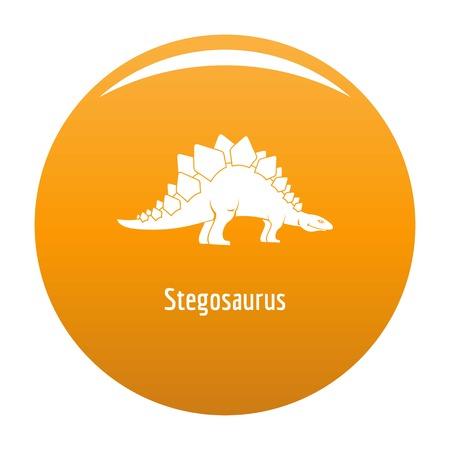 Stegosaurus icon. Simple illustration of stegosaurus icon for any design orange Imagens