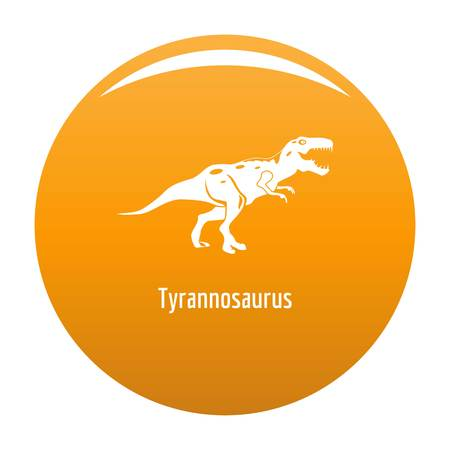 Tyrannosaurus icon. Simple illustration of tyrannosaurus icon for any design orange