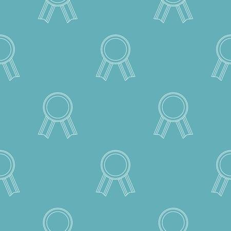Award ribbon pattern seamless repeating for any web design