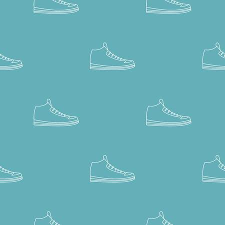 Sneakers pattern seamless repeating for any web design Stock Photo