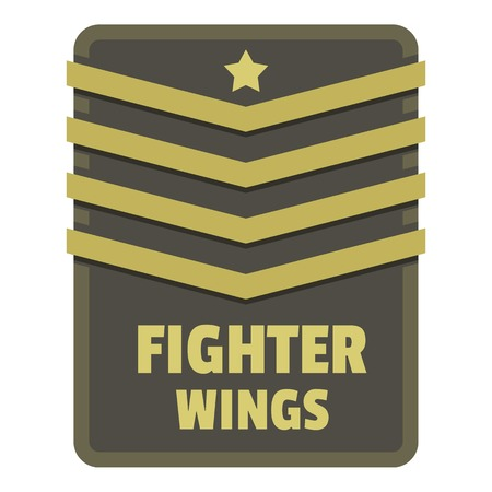 Fighter wings icon logo. Stock Photo