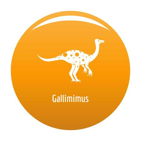 Gallimimus icon. Simple illustration of gallimimus icon for any design orange