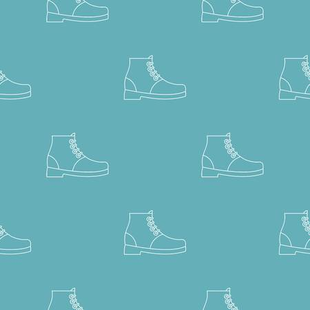 Hiking boots pattern seamless repeating for any web design