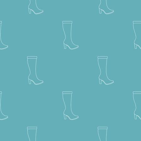 Woman boots pattern seamless