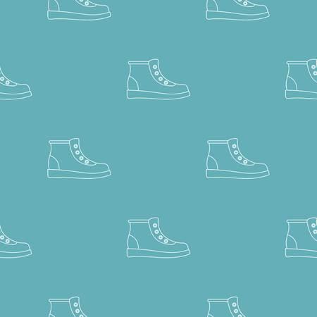 Hiking boots pattern seamless