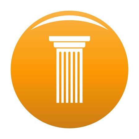 Italian column icon orange