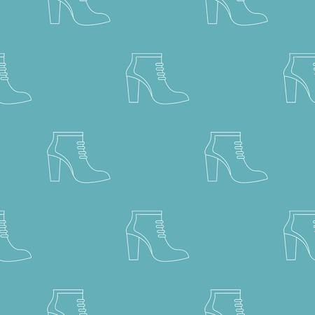 Woman shoes pattern seamless