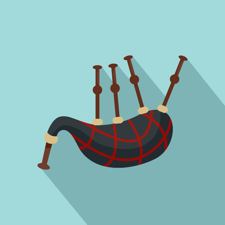 Bagpipes icon. Flat illustration of bagpipes icon for web design