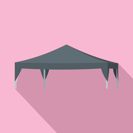 Commercial tent icon. Flat illustration of commercial tent icon for web design Banco de Imagens