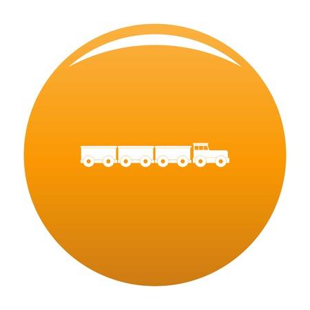 tourist train icon. Simple illustration of tourist train icon for any design orange Stok Fotoğraf