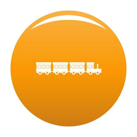 Children train icon. Simple illustration of children train icon for any design orange