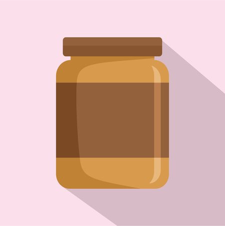 Butter jar icon. Flat illustration of butter jar icon for web design Stock Photo