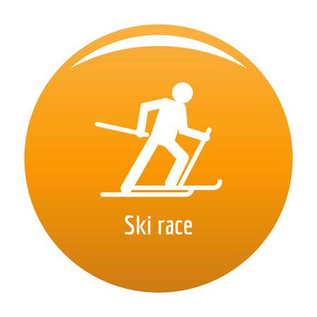 Ski race icon orange
