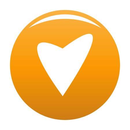 Gentle heart icon orange