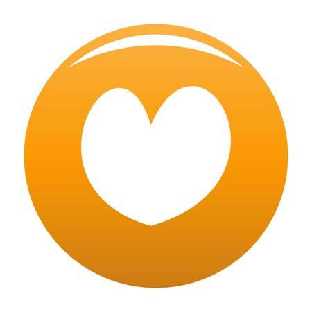 Reliable heart icon orange