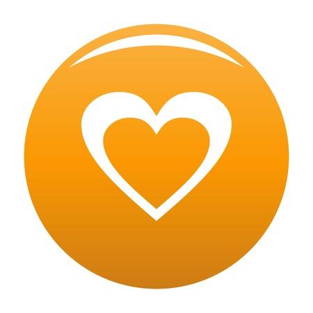 Huge heart icon orange
